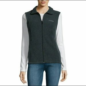 Columbia Three Lakes Black Fleece Vest Small